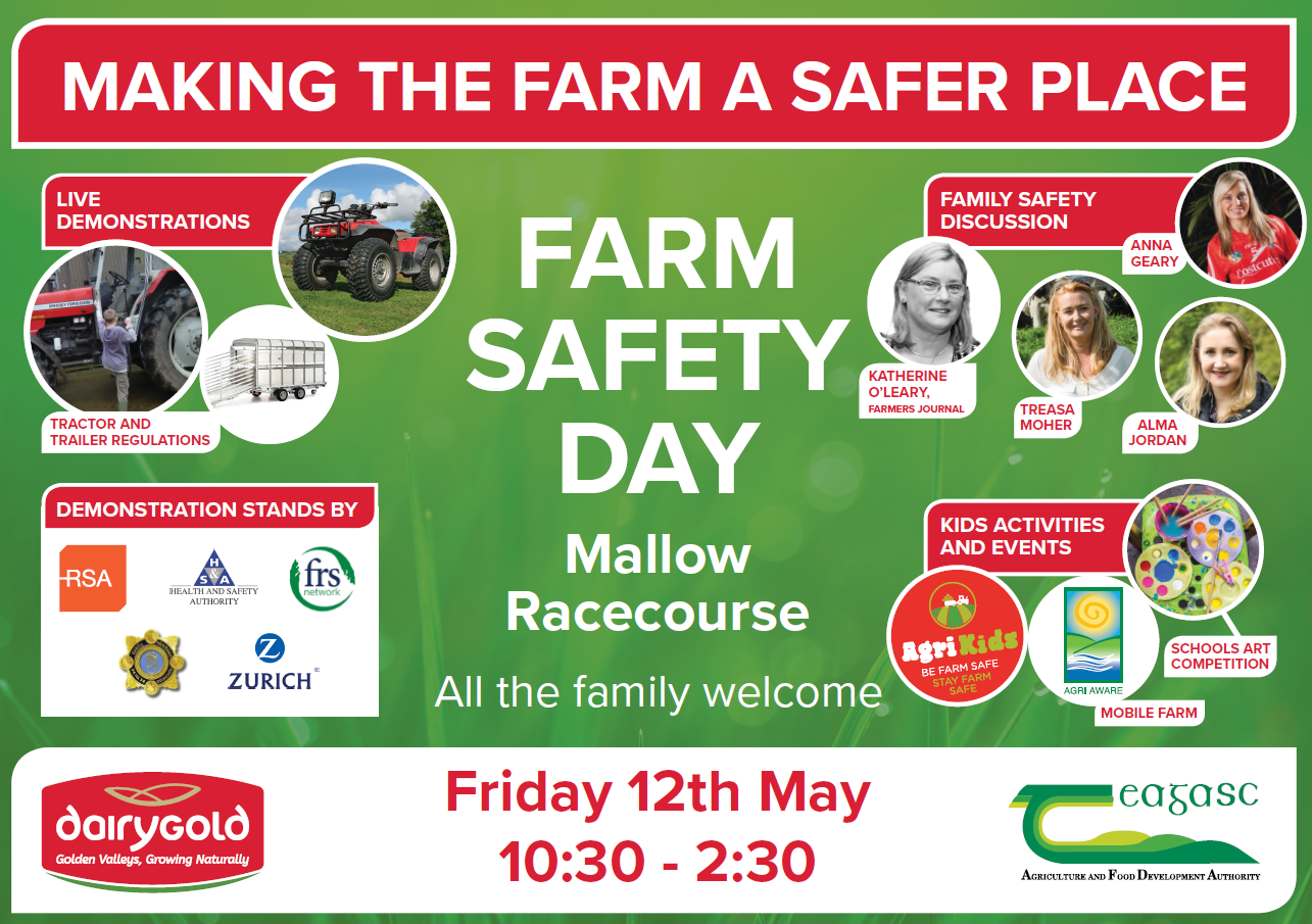Dairygold to host free farm safety information day at Mallow Racecourse