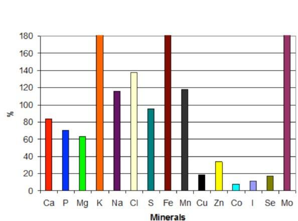 Gras silage mineral source chart
