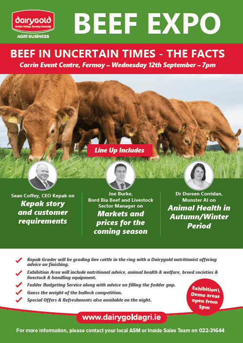 "Dairygold Beef Expo | ""Beef in Uncertain Times – The Facts"""