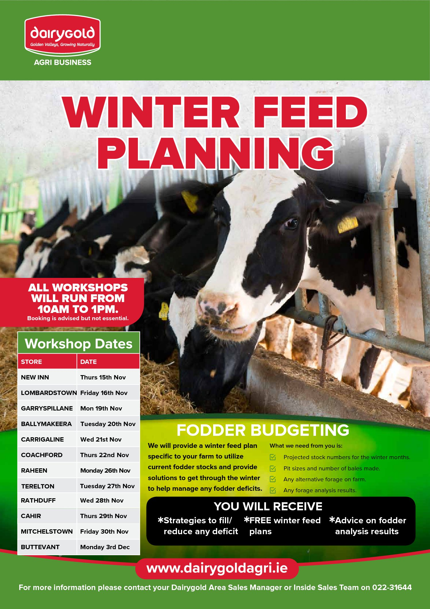 Winter Feed Planning Workshop | Carrigaline