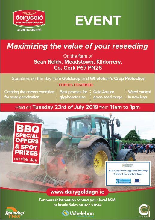 Dairygold Reseeding Event | Kildorrey