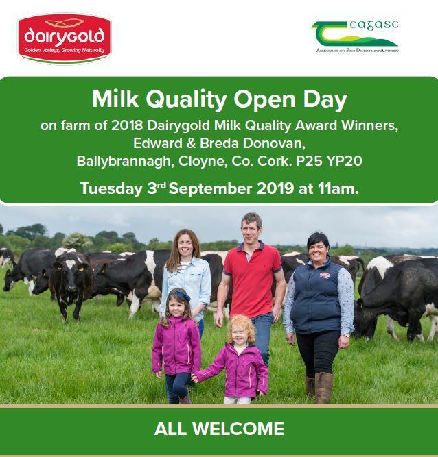 Milk Quality Open Day | Cloyne